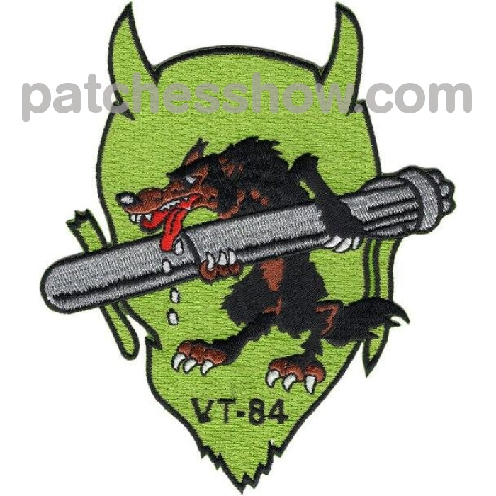Vt-84 Patch Devil Wolf Military Tactical Patches Embroidered Sew On Or Iron On Velcro Usa Wholesale
