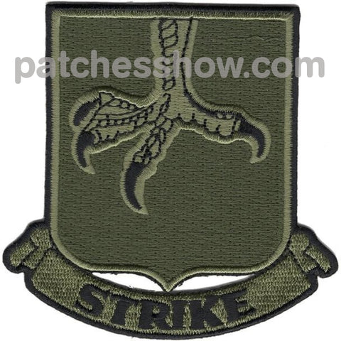 502Nd Infantry Strike Patch Od Green Military Tactical Patches Embroidered Sew On Or Iron On Velcro
