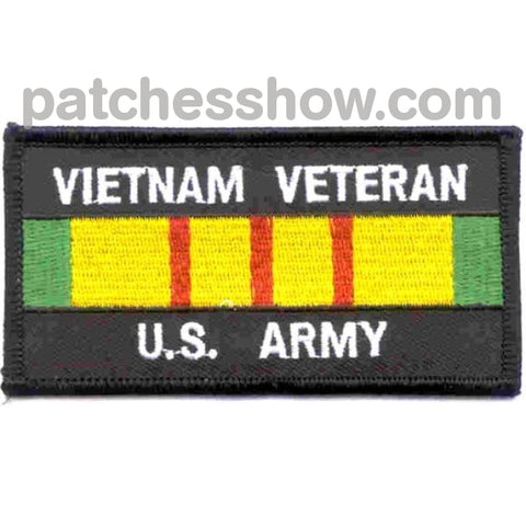 Vietnam Veteran Service Ribbon Army Patch Military Tactical Patches Embroidered Sew On Or Iron On