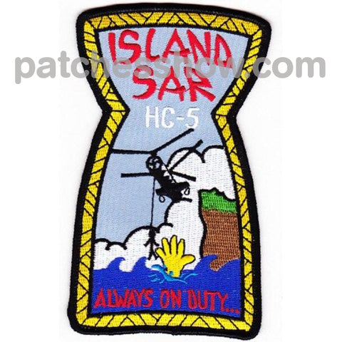 Hc-5 Patches Island Sar Military Tactical Patches Embroidered Sew On Or Iron On Velcro Usa Wholesale