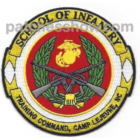 School Of Infantry Training Command Camp Patches Military Tactical Patches Embroidered Sew On Or