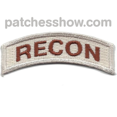 U.s. Special Forces Recon Rocker Desert Patches Military Tactical Patches Embroidered Sew On Or Iron