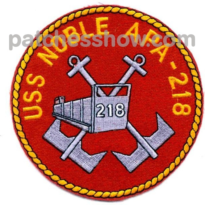 Uss Noble Apa-218 Patch Military Tactical Patches Embroidered Sew On Or Iron On Velcro Usa Wholesale