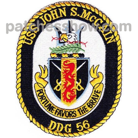 Uss John S Mccain Ddg-56 Guided Missile Destroyer Patch Military Tactical Patches Embroidered Sew On