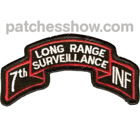 7Th Infantry Division Long Range Scroll Patch Military Tactical Patches Embroidered Sew On Or Iron