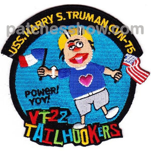 Cvn-75 Uss Harry S Truman Vt22 Tailhookers Patch Military Tactical Patches Embroidered Sew On Or