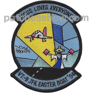 Vt-9 Training Squadron Jfk Easter Boat Patch Military Tactical Patches Embroidered Sew On Or Iron On
