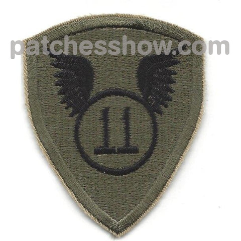 11Th Airborne Infantry Division Od Patch Military Tactical Patches Embroidered Sew On Or Iron On