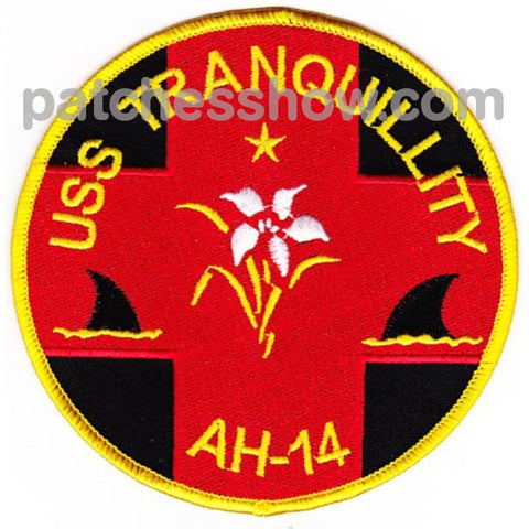 Uss Tranquility Ah-14 Hospital Ship Patches Military Tactical Patches Embroidered Sew On Or Iron On