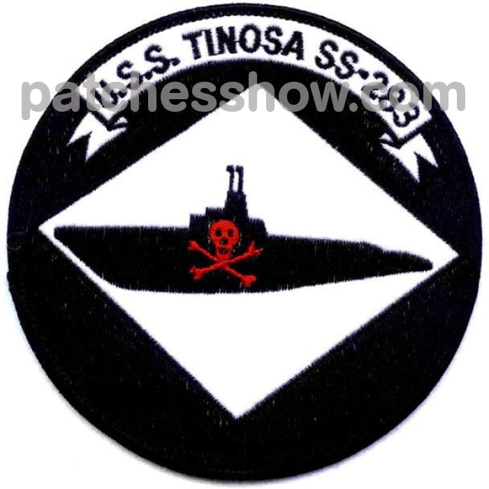Uss Tinosa Ss-283 Patch Version A Military Tactical Patches Embroidered Sew On Or Iron On Velcro Usa