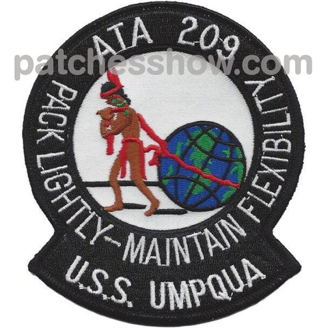 Uss Umpqua Ata 209 Auxiliary Tug Ship Patches Military Tactical Patches Embroidered Sew On Or Iron