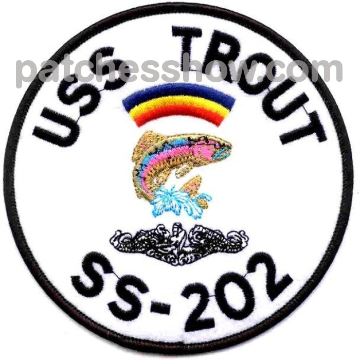 Ss-202 Uss Trout Patch Military Tactical Patches Embroidered Sew On Or Iron On Velcro Usa Wholesale