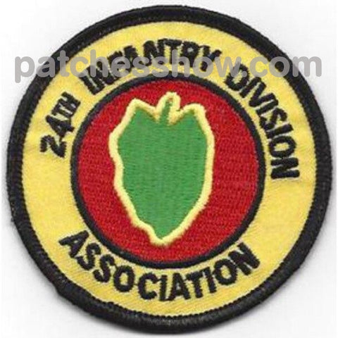 24Th Infantry Division Patch Victory Association Military Tactical Patches Embroidered Sew On Or