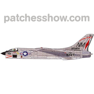 Vought F-8 Crusader Detailed Side View Patch Military Tactical Patches Embroidered Sew On Or Iron On