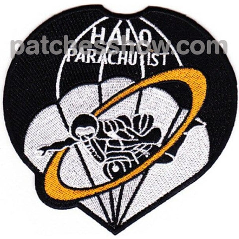 Hight Altitude Low Opening Parachutist Patch Halo Military Tactical Patches Embroidered Sew On Or