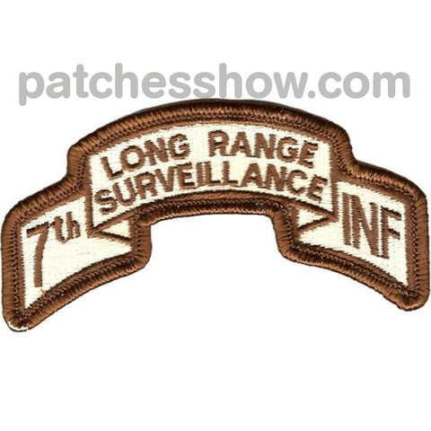 7Th Infantry Division Long Range Scroll Desert Patch Military Tactical Patches Embroidered Sew On Or