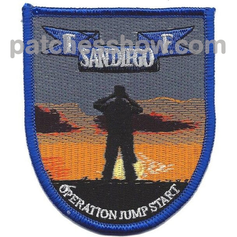 Tf San Diego Operation Jump Start Patch Military Tactical Patches Embroidered Sew On Or Iron On