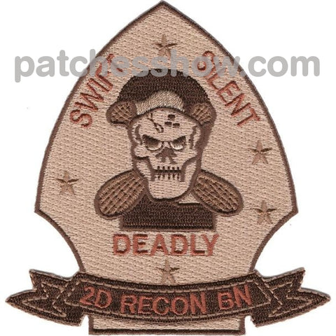 2Nd Reconnaissance Battalion Desert Patches Military Tactical Patches Embroidered Sew On Or Iron On