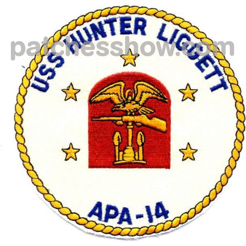Uss Hunter Liggett Apa-14 Patches Military Tactical Patches Embroidered Sew On Or Iron On Velcro Usa