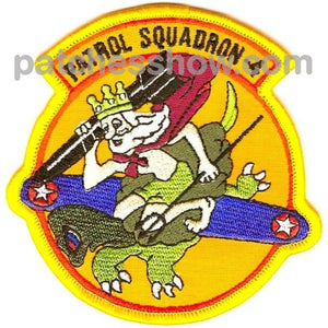 Vp-4 Patrol Squadron Small Version Patch Military Tactical Patches Embroidered Sew On Or Iron On
