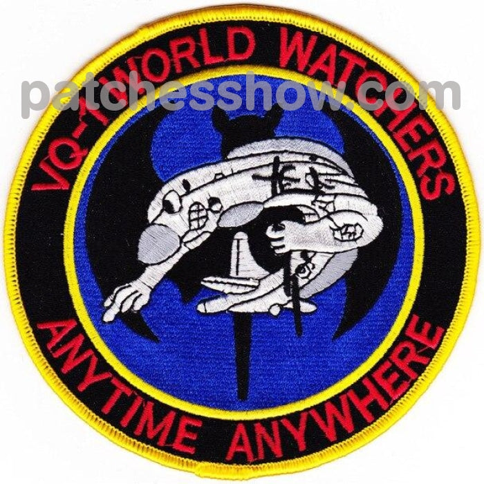 Vq-1 Patch World Watchers Anytime Anywhere Military Tactical Patches Embroidered Sew On Or Iron On