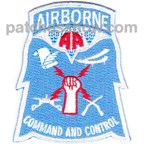82Nd Airborne Division Command & Control Patch Military Tactical Patches Embroidered Sew On Or