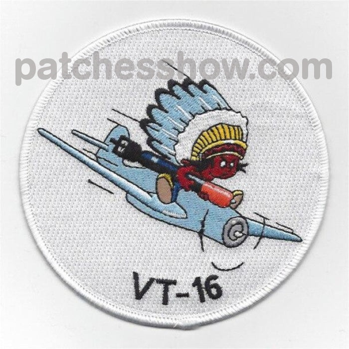 Vt-16 Torpedo Squadron Sixteen Patch Military Tactical Patches Embroidered Sew On Or Iron On Velcro
