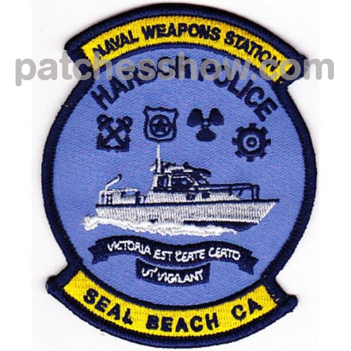 Weapons Station Harbor Police Seal Beach California Patch Military Tactical Patches Embroidered Sew