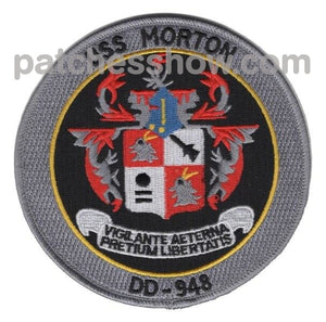Dd-948 Uss Morton Ship Patch Military Tactical Patches Embroidered Sew On Or Iron On Velcro Usa