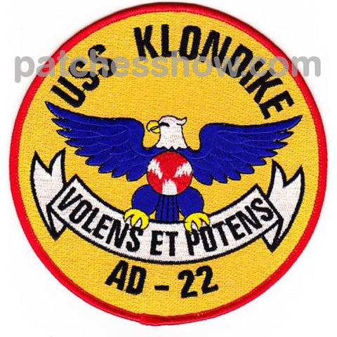 Uss Klondike Ad-22 Auxiliary Destroyer Repair Ship Patches Military Tactical Patches Embroidered Sew