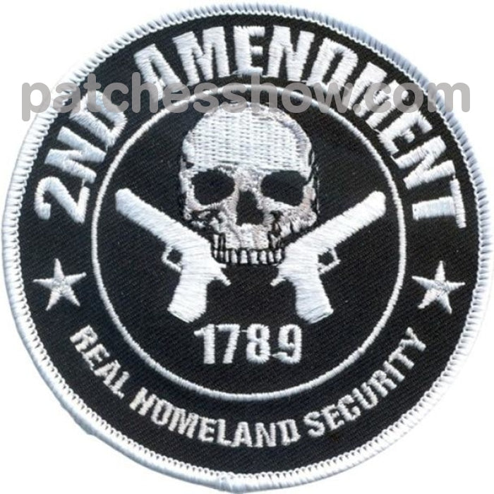 2Nd Amendment Real Homeland Security Patches Military Tactical Patches Embroidered Sew On Or Iron On