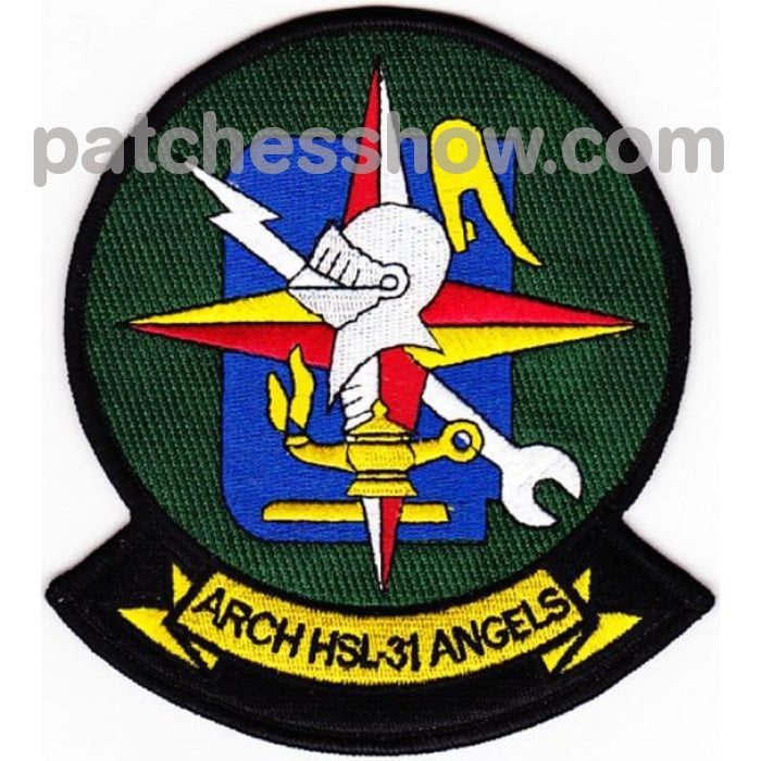 Hsl-31 Patch Arch Angels Military Tactical Patches Embroidered Sew On Or Iron On Velcro Usa
