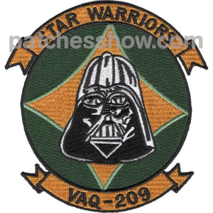 Vaq-209 Carrier Tactical Electronics Warfare Squadron Patch Military Patches Embroidered Sew On Or