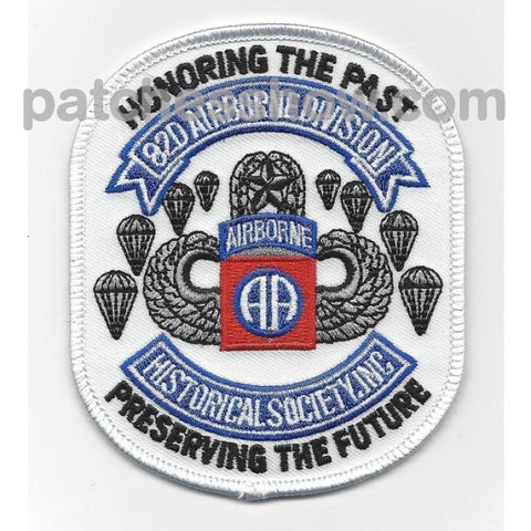 82Nd Airborne Division Historical Society Military Tactical Patches Embroidered Sew On Or Iron On