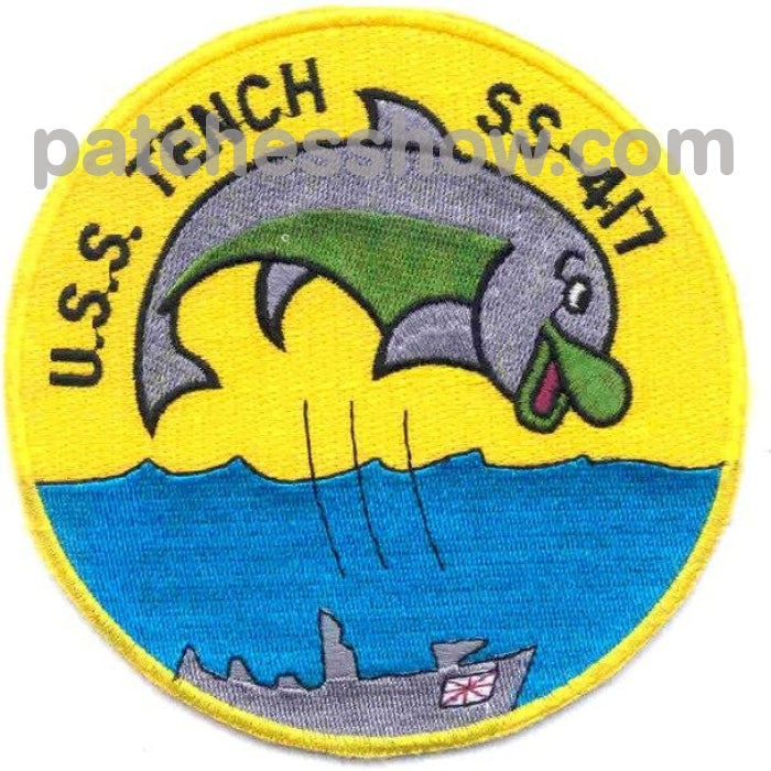 Ss-417 Uss Tench Patch Military Tactical Patches Embroidered Sew On Or Iron On Velcro Usa Wholesale