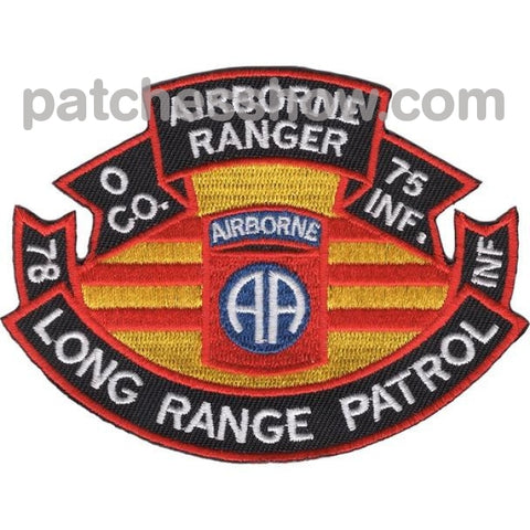 75Th Infantry Regiment O Company Long Range Patrol - Airborne Ranger Military Tactical Patches