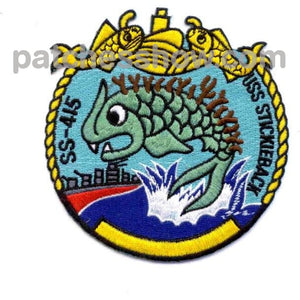 Ss-415 Uss Stickleback Patch Military Tactical Patches Embroidered Sew On Or Iron On Velcro Usa