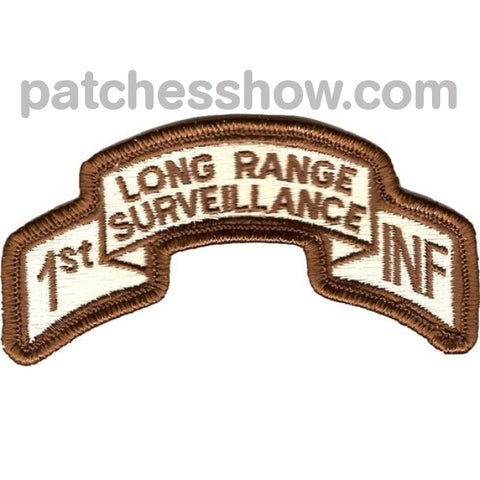 1St Infantry Division Long Range Scroll Desert Patch Military Tactical Patches Embroidered Sew On Or