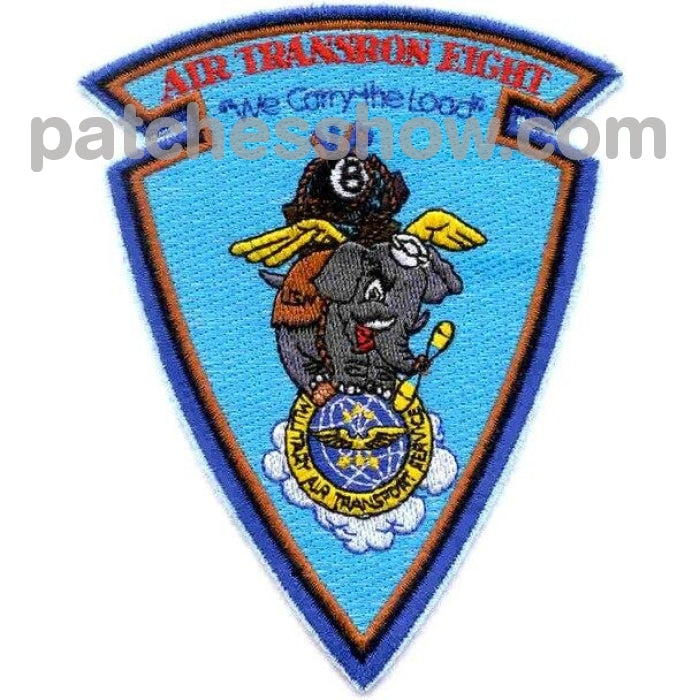 Vr-8 Aviation Air Transportation Squadron Eight Patch Military Tactical Patches Embroidered Sew On