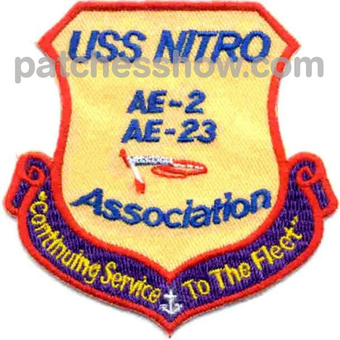 Uss Nitro Ae-2 Association Patches Military Tactical Patches Embroidered Sew On Or Iron On Velcro