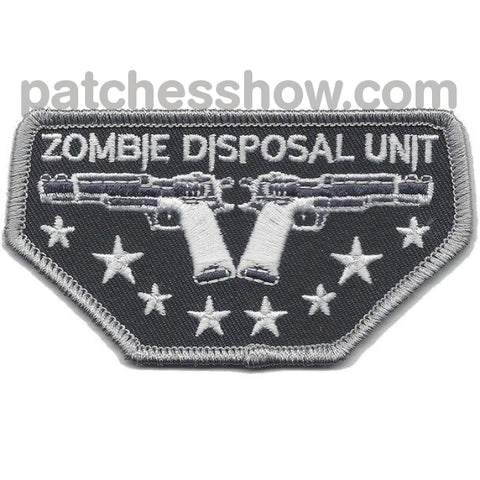 Zombie Disposal Unit Patches Military Tactical Patches Embroidered Sew On Or Iron On Velcro Usa