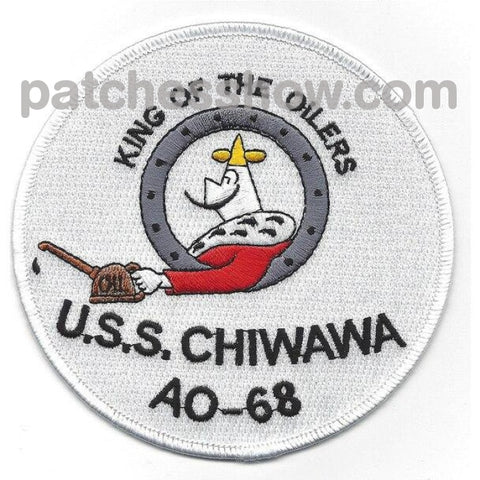 Uss Chiwawa Ao-68 Patches Military Tactical Patches Embroidered Sew On Or Iron On Velcro Usa