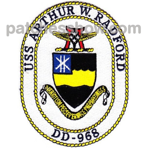 Dd-968 Uss Arthur W Radford Patches Military Tactical Patches Embroidered Sew On Or Iron On Velcro
