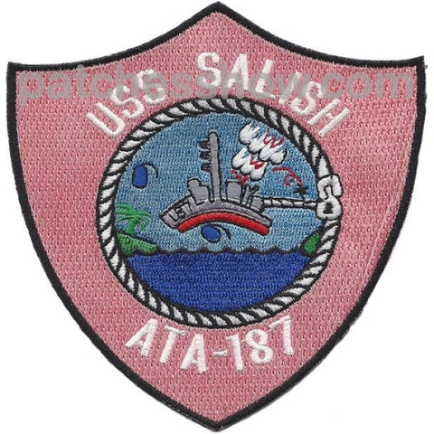 Uss Salish Ata-187 Patches Military Tactical Patches Embroidered Sew On Or Iron On Velcro Usa