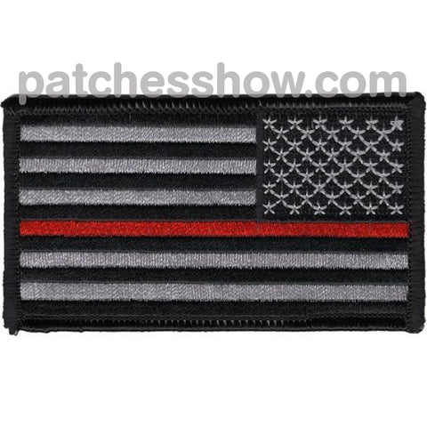 Thin Red Line Firefighter Patch Right Should Revers Facing Military Tactical Patches Embroidered Sew