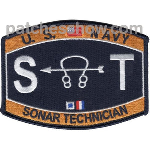 Sonar Technician Rating Patch Military Tactical Patches Embroidered Sew On Or Iron On Velcro Usa