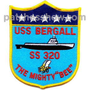 Ss-320 Uss Bargall Patch - D Version Military Tactical Patches Embroidered Sew On Or Iron On Velcro