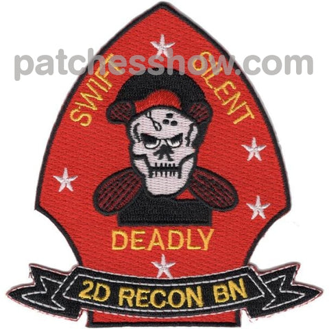 2Nd Reconnaissance Battalion Patches Swift Silent Deadly Military Tactical Patches Embroidered Sew
