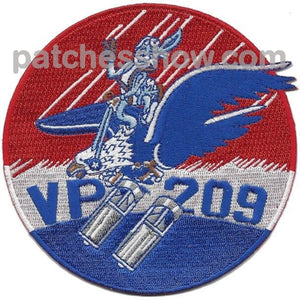 Vp-209 Navy Patrol Squadron Wwii Patch Military Tactical Patches Embroidered Sew On Or Iron On