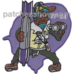 Zp-24 Aviation Airship Patrol Squadron Patch Military Tactical Patches Embroidered Sew On Or Iron On